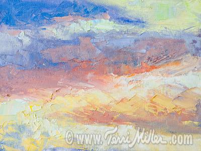 February Sunset, San Marcos 6x8