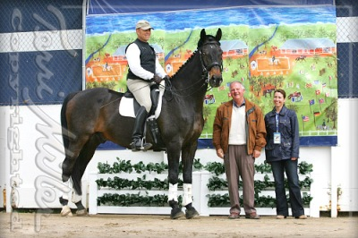 Mark Silverman on Merlin, Axel Steiner and Raisa Bonetti of Dressage Training OnLine