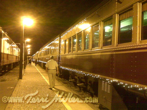 Night at the Napa Wine Train Depot