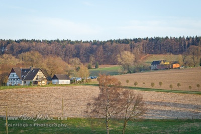 The view from our the Landhotel Buller in Hagen.