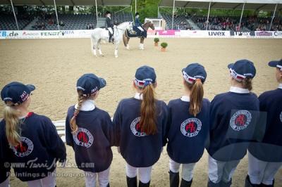 The pony-sized award squadron for the Pony Derby.