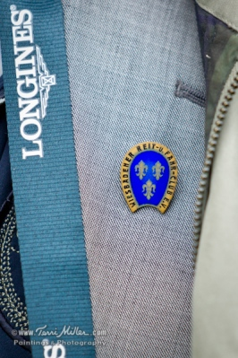 The Wiesbaden Reit und Fahr Club pin, circa 1938. Axel wore this in honor of his mother, who was a member at that time.