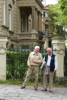 Axel and Uwe and their childhood house.