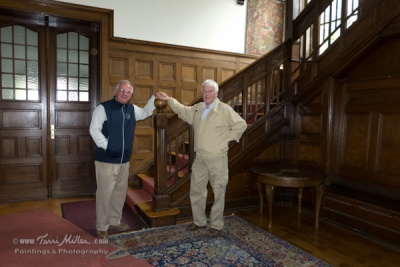 Axel and Uwe ... I'm guessing that they slid down that bannister as kids!