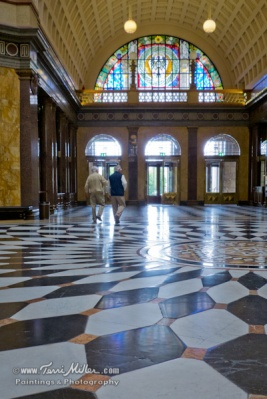 The grand hall of the Wiesbaden Casino
