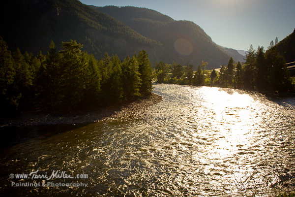 Big sparkling river