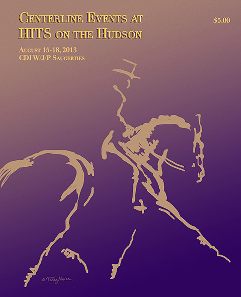 "Centerline Events at HITS Saugerties program cover 2013 - Yes, that's a ""Loose Horses"" design!"