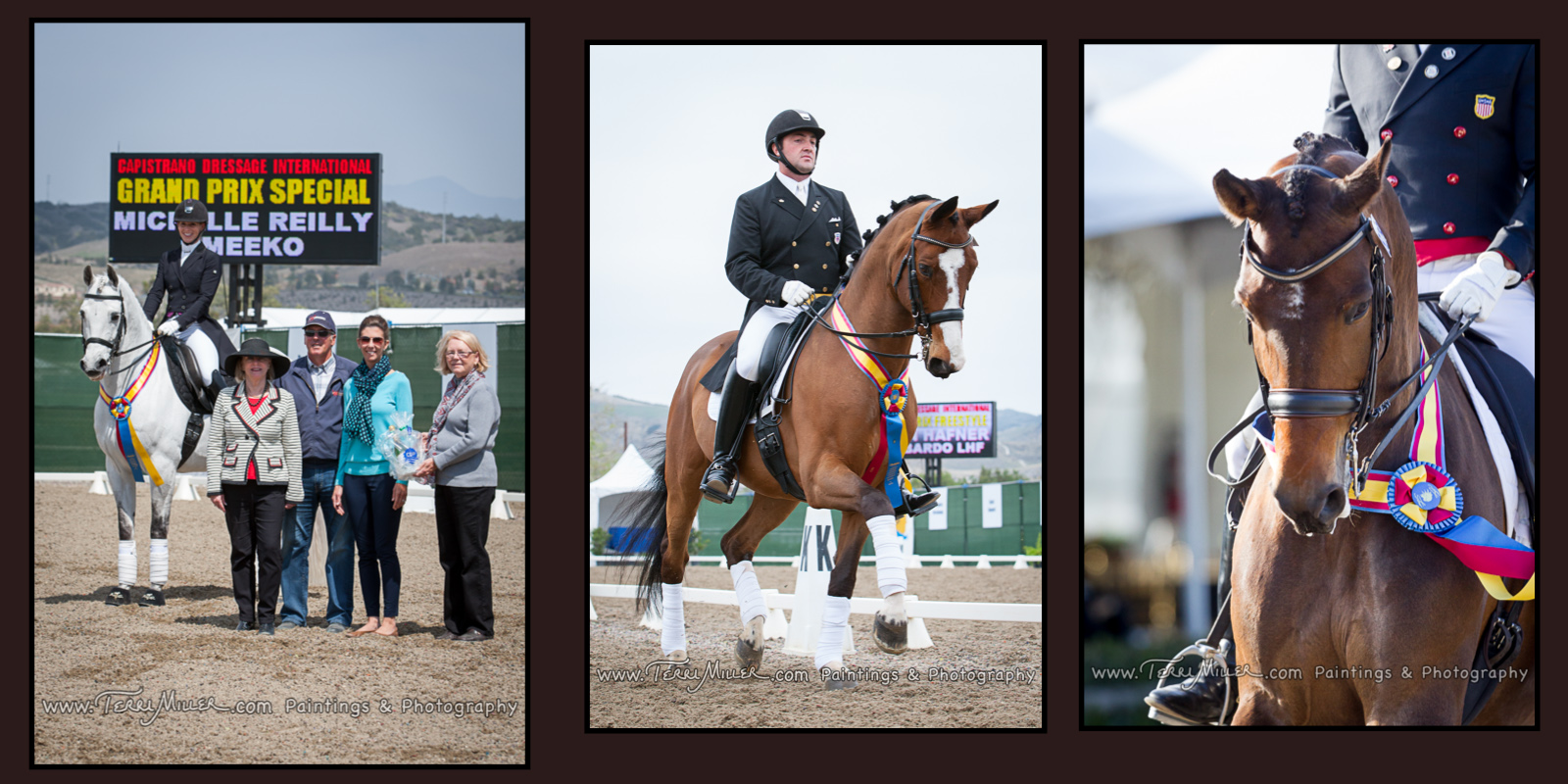 Michelle Reilly on Umeeko with Lorraine MacDonald, David and Alissa Wilson and Glenda McElroy; Brian Haffner on Lombardo; Steffen Peters and Rosamunde