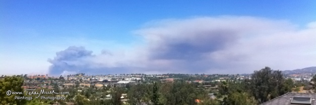 Las Pulgas Fire burning 8000 acres on Camp Pendelton