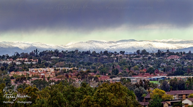 Snow on Camp Pendleton, New Years Eve.