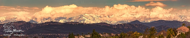 Mt Palomar Panorama, New Years Eve 2014