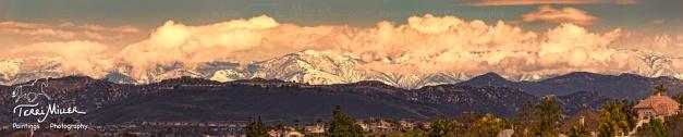 Mt Palomar Panorama, New Years Eve 2014