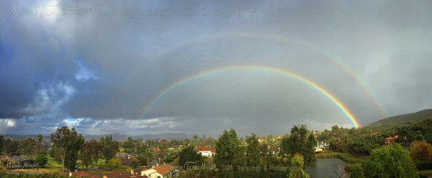 A rainbow in between squalls